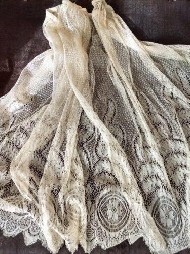 antique lace skirt panel
