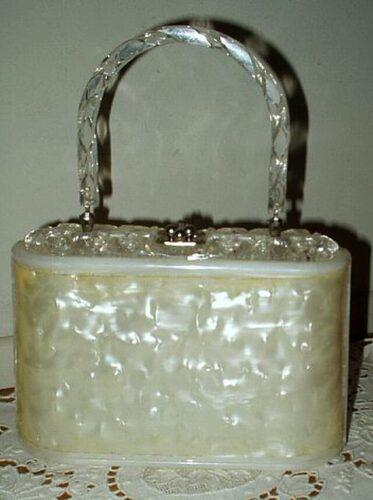 vintage lucite purse handbag
